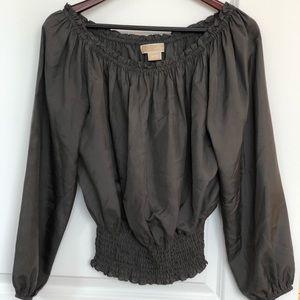 Michael Kors gray blouse